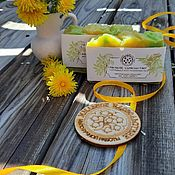 Косметика ручной работы handmade. Livemaster - original item Natural soap Flower Summer Wine from dandelions yellow. Handmade.