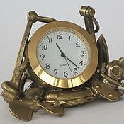Для дома и интерьера handmade. Livemaster - original item Bronze watch Sea symbols. Handmade.