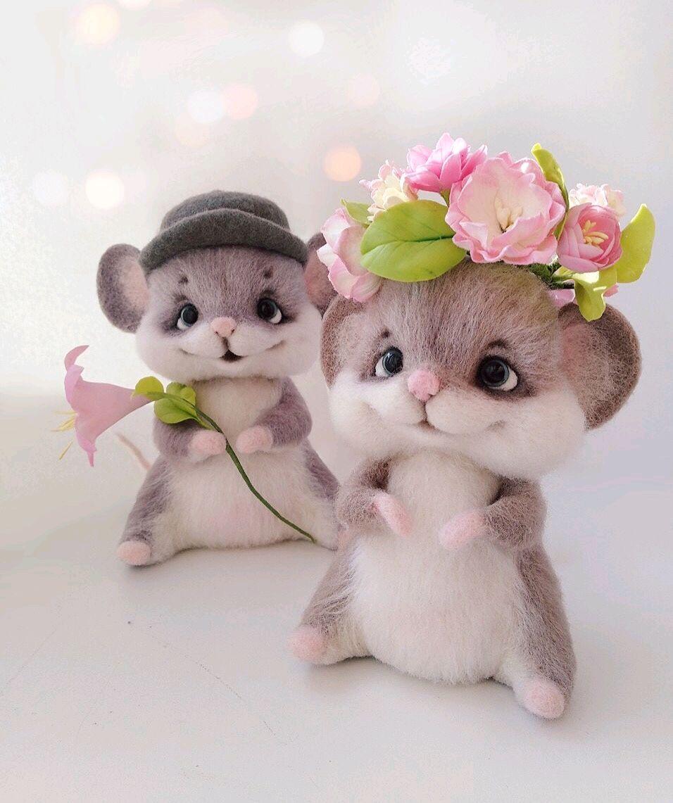 Валяные игрушки мышки, Мягкие игрушки, Волгоград,  Фото №1