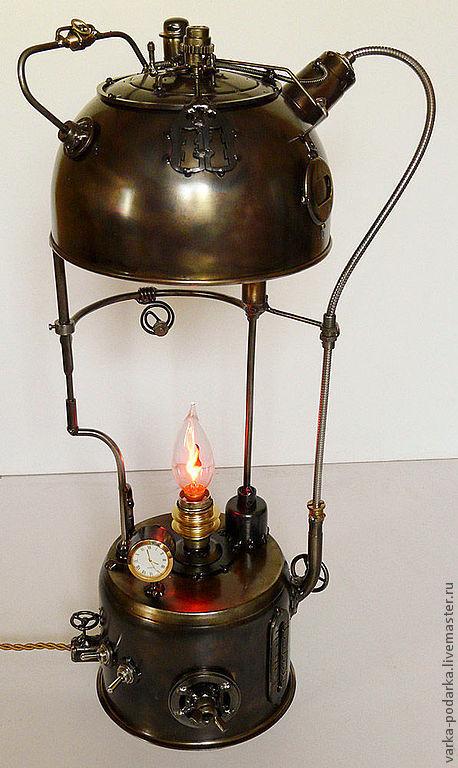 Освещение ручной работы. Ярмарка Мастеров - ручная работа. Купить Энергетический котёл. Handmade. Светильник, теплоэнергетика, лофт