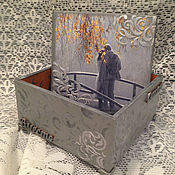 Для дома и интерьера ручной работы. Ярмарка Мастеров - ручная работа шкатулка для украшений Счастье Любовь хранение подарок свадьба декупаж. Handmade.
