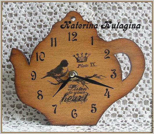 """Часы для дома ручной работы. Ярмарка Мастеров - ручная работа. Купить Часы настенные """"Listen to your heart"""". Handmade."""