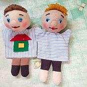 Куклы и игрушки ручной работы. Ярмарка Мастеров - ручная работа Перчаточные Куколки на детскую ручку.. Handmade.