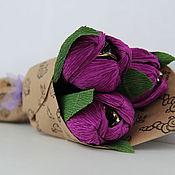Букеты ручной работы. Ярмарка Мастеров - ручная работа Букет из конфет Тюльпаны. Handmade.