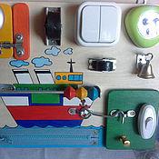 Бизиборды ручной работы. Ярмарка Мастеров - ручная работа Бизиборд-мини Кораблик. Handmade.