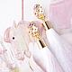 Серьги ручной работы. Шелковые серьги-кисти белые с цветочными швензами и МОНОСЕРЬГА. Artig. Интернет-магазин Ярмарка Мастеров. лето
