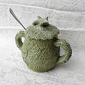 Посуда handmade. Livemaster - original item Sugar Bowl Summer. Handmade.