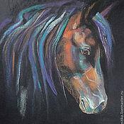 Картины и панно ручной работы. Ярмарка Мастеров - ручная работа голова лошади. Handmade.