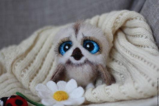 Игрушки животные, ручной работы. Ярмарка Мастеров - ручная работа. Купить Авторская войлочная игрушка совушка малышка Софья. Handmade.