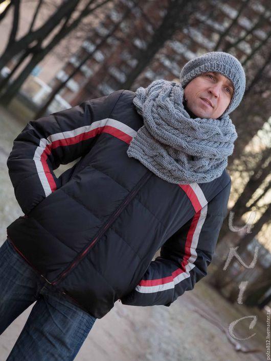 Шапка мужская, шарф мужской, шапка и шарф мужской, комплект шапка шарф, комплект шапка снуд, шапка вязаная, шарф вязаный, 23 февраля, перчатки, купить комплект, купить шапку, купить шарф