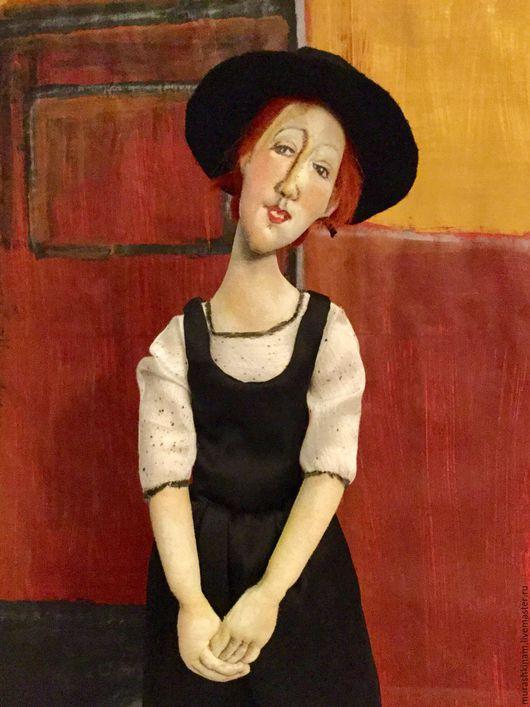 Текстильная кукла `ТОРА` по мотивам Модильяни.  Купить интернет-магазин ТекСТИЛЬная КУКЛА (Марина Murashkina) Ярмарка Мастеров