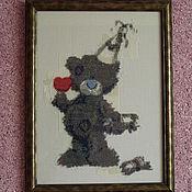 Картины и панно ручной работы. Ярмарка Мастеров - ручная работа Мишка Тедди Happy Birthday. Handmade.