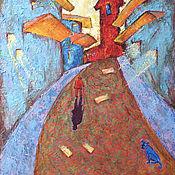"""Картины и панно ручной работы. Ярмарка Мастеров - ручная работа Картина маслом """"Тень прошлого. Escape"""". Handmade."""