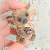 Мишки Тедди ручной работы. Ярмарка Мастеров - ручная работа Капучин (мини мишка тедди). Handmade.