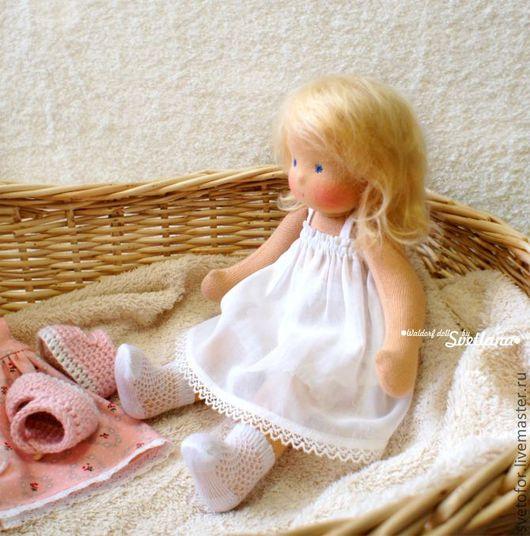 Вальдорфская игрушка ручной работы. Ярмарка Мастеров - ручная работа. Купить Лиза, 30 см. Handmade. Вальдорфская кукла, подарок