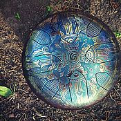 Музыкальные инструменты handmade. Livemaster - original item Steel drum, tank drum, handpan, happy drum, mandala. Handmade.