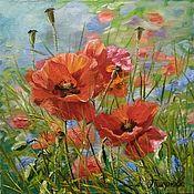 Картины и панно handmade. Livemaster - original item Picture Poppies. Oil painting.. Handmade.
