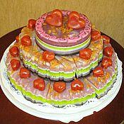 """Косметика ручной работы. Ярмарка Мастеров - ручная работа """"Трехэтажный торт"""" (мыло). Handmade."""