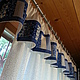"""Текстиль, ковры ручной работы. Шторы """"Поэзия неба"""". Наталья Ракитянская Лоскутное шитьё. Ярмарка Мастеров. Шторы для кухни"""