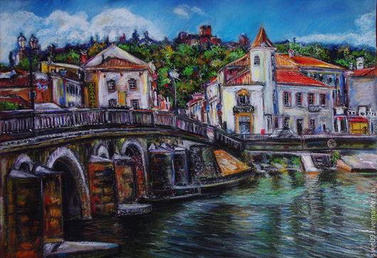 Город ручной работы. Ярмарка Мастеров - ручная работа. Купить Уголок Португалии. Handmade. Город, Португалия, старый город, кирпичный