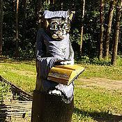 """Для дома и интерьера ручной работы. Ярмарка Мастеров - ручная работа Парковая Скульптура """"Кот - Учёный"""". Handmade."""
