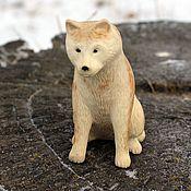 Для дома и интерьера handmade. Livemaster - original item Akita inu.Miniature.Carved bone.. Handmade.
