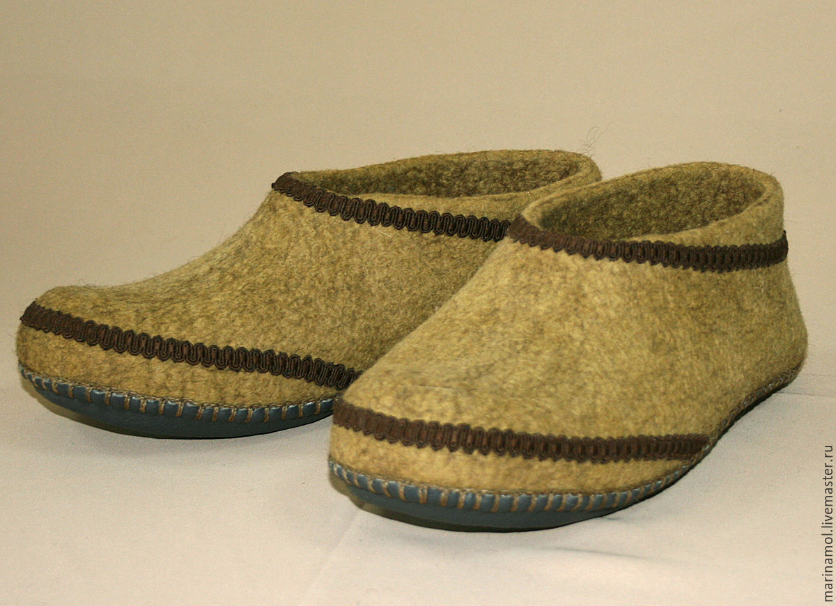 Felted Slippers 'Country', Slippers, Miass,  Фото №1