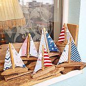 Для дома и интерьера handmade. Livemaster - original item Driftwood boat with sails. Handmade.