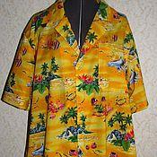 Одежда ручной работы. Ярмарка Мастеров - ручная работа Мужская рубашка-гавайка. Handmade.