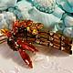 Винтажные украшения. Ярмарка Мастеров - ручная работа. Купить Винтажная брошь с багетными кристаллами. Handmade. Винтажная брошь