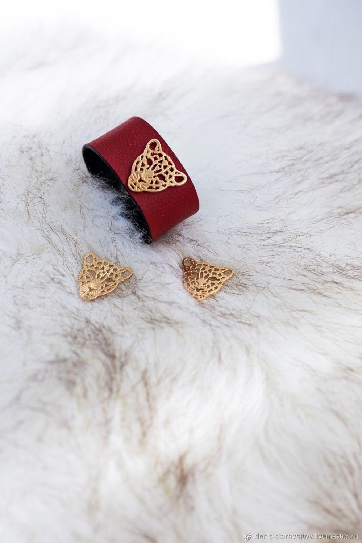 Кожаный браслет, Браслет жесткий, Минск,  Фото №1