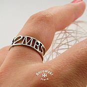 Rings handmade. Livemaster - original item Ring mr&mrs. Handmade.