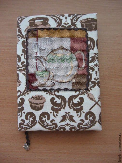"""Блокноты ручной работы. Ярмарка Мастеров - ручная работа. Купить Блокнот """"Чайный"""". Handmade. Авторский блокнот, американский хлопок, Скрапбумага"""