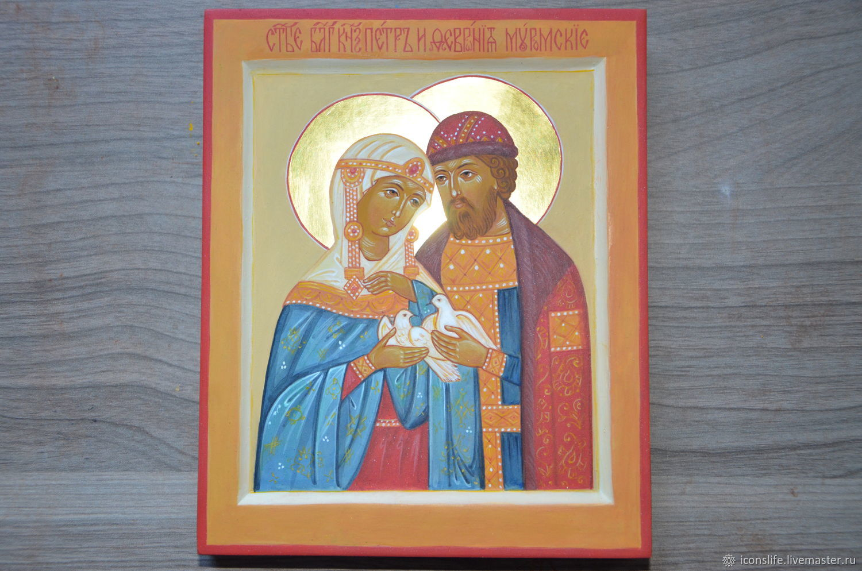 Икона Св Петра и Февронии Муромских, Иконы, Москва,  Фото №1