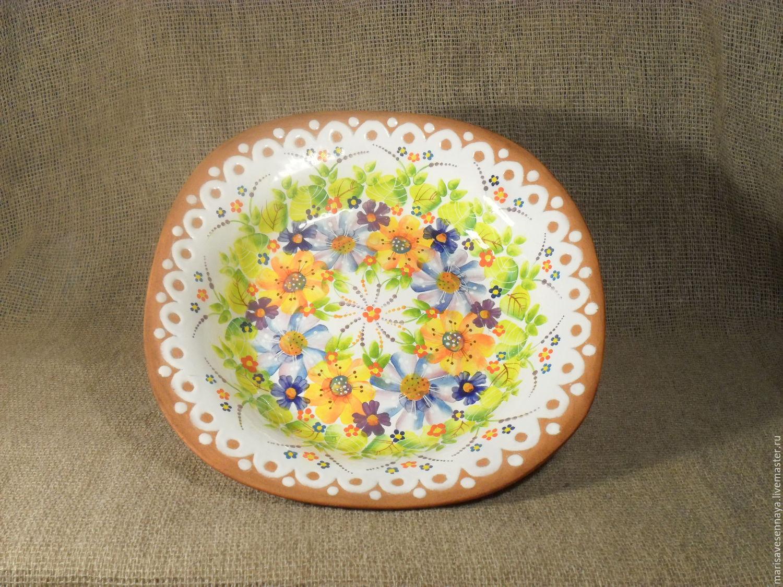 Ceramic Plate painted. Marisavesennaya ceramics. Online shopping on My Livemaster. & Ceramic Plate painted