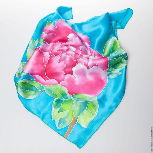 батик, шелковый платок, платок батик, батик роспись, натуральный шелк, купить батик платок