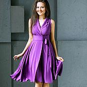 Одежда ручной работы. Ярмарка Мастеров - ручная работа Платье женское фиолетовое, арт. 2601. Handmade.