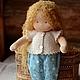 Вальдорфская игрушка ручной работы. Ярмарка Мастеров - ручная работа. Купить Вальдорфская куколка, 32см. Handmade. Голубой, вальдорфская игрушка