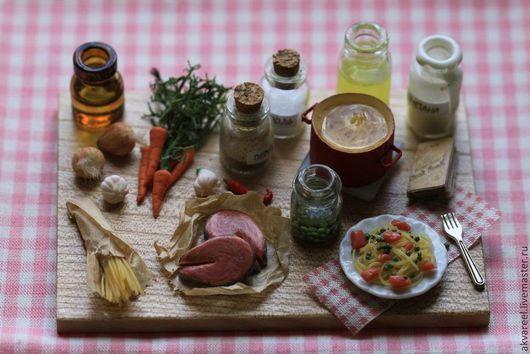 Еда ручной работы. Ярмарка Мастеров - ручная работа. Купить Лапша с лососем и горошком. (серия Книга рецептов). Handmade. Еда