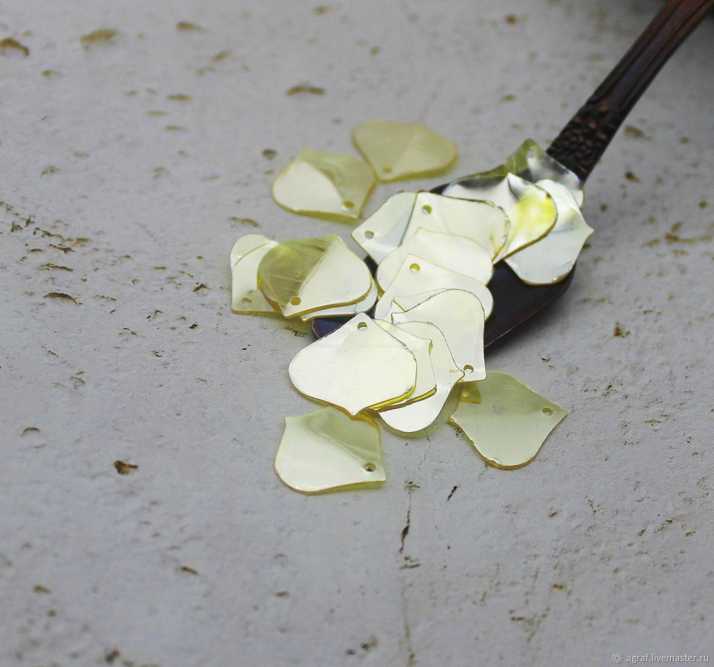 Sequins 15 mm dandelion shaped 2 gr, Sequins, Solikamsk,  Фото №1