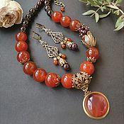 Украшения handmade. Livemaster - original item Necklace with carnelian and garnet. Handmade.