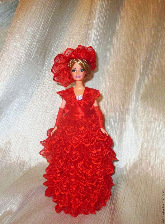 """Шкатулки ручной работы. Ярмарка Мастеров - ручная работа. Купить Кукла-шкатулка """"Дама в красном"""". Handmade. Ярко-красный"""