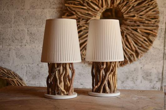 Освещение ручной работы. Ярмарка Мастеров - ручная работа. Купить Лампа Driftwood малая. Handmade. Белый, настольная лампа
