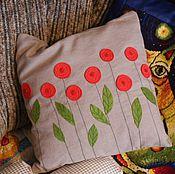 Для дома и интерьера ручной работы. Ярмарка Мастеров - ручная работа яркая подушка. Handmade.