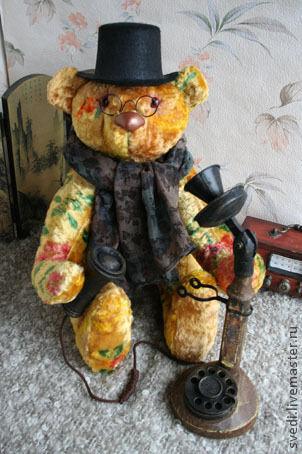 """Мишки Тедди ручной работы. Ярмарка Мастеров - ручная работа. Купить Медведь""""Мистер Твистер"""". Handmade. Желтый, мишки тедди, тедди"""