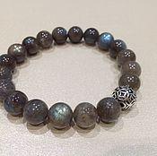 Украшения handmade. Livemaster - original item Bracelets: Silver men`s bracelet of labradorite.. Handmade.