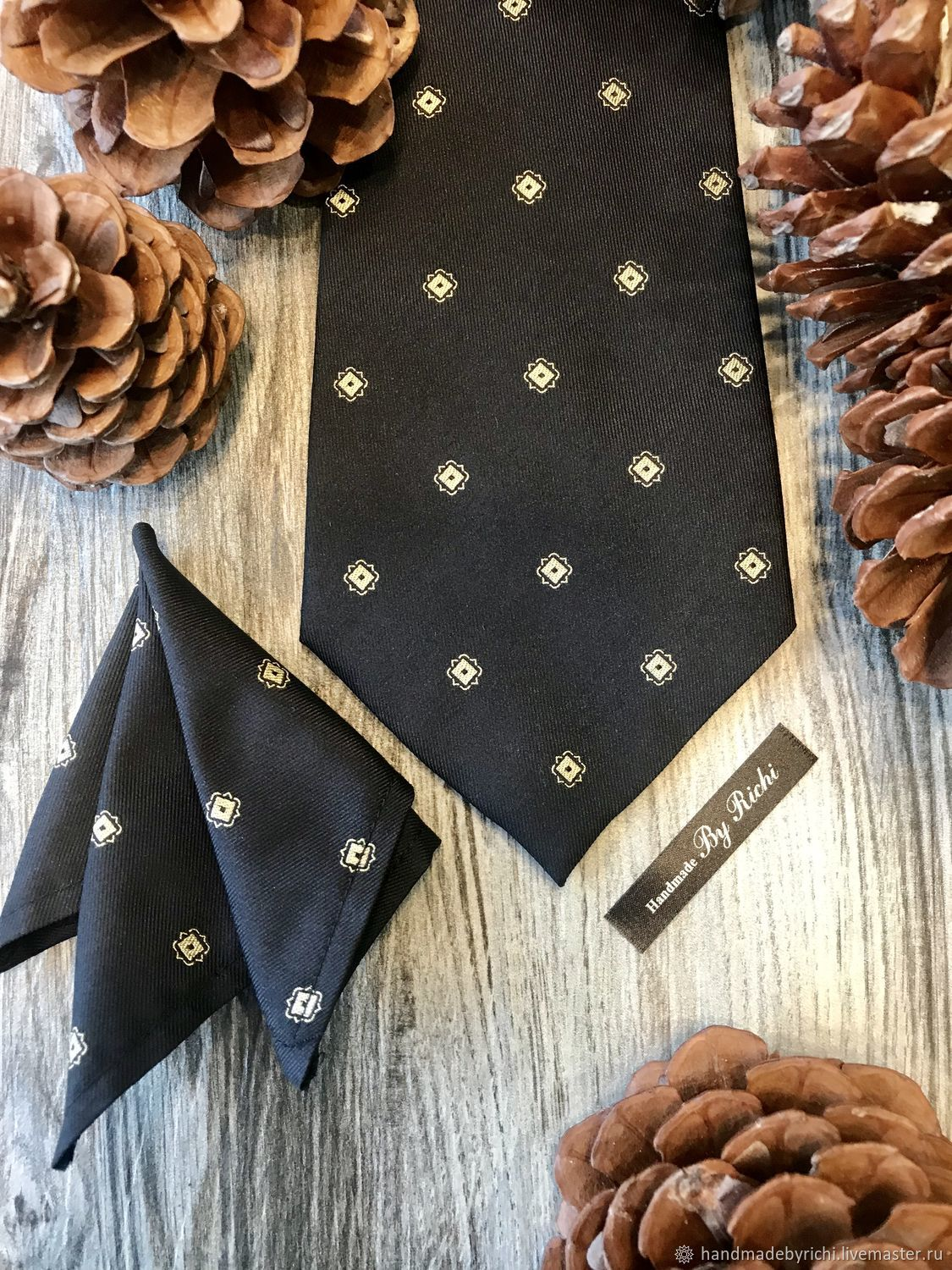 Classic tie handkerchief in the breast pocket of a jacket or shirt