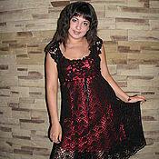 """Одежда ручной работы. Ярмарка Мастеров - ручная работа платье """"черное:)"""". Handmade."""