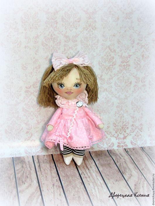 Коллекционные куклы ручной работы. Ярмарка Мастеров - ручная работа. Купить Куколка Инесса. Handmade. Бледно-розовый, ободок с бантом