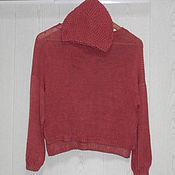Одежда ручной работы. Ярмарка Мастеров - ручная работа Шелковый вязаный свитер и шапка, Монвизо, 100% шелк, Италия, бохо. Handmade.